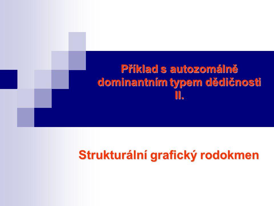 Příklad s autozomálně dominantním typem dědičnosti II.