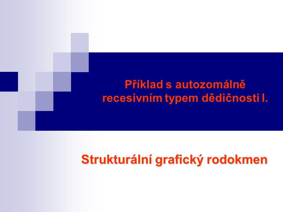 Příklad s autozomálně recesivním typem dědičnosti I.