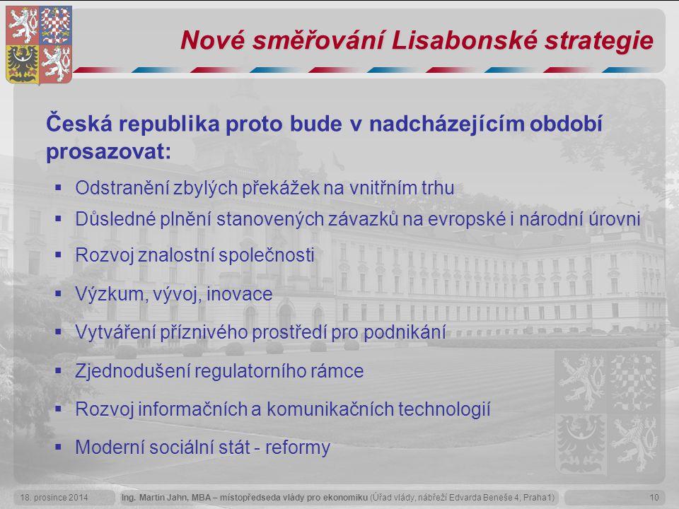 Nové směřování Lisabonské strategie