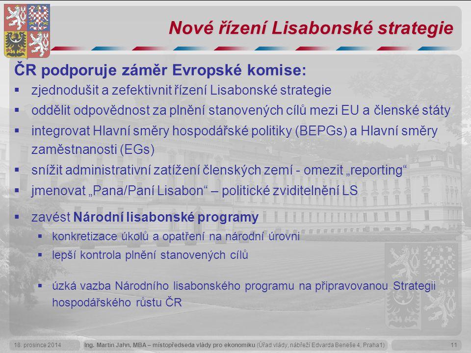 Nové řízení Lisabonské strategie