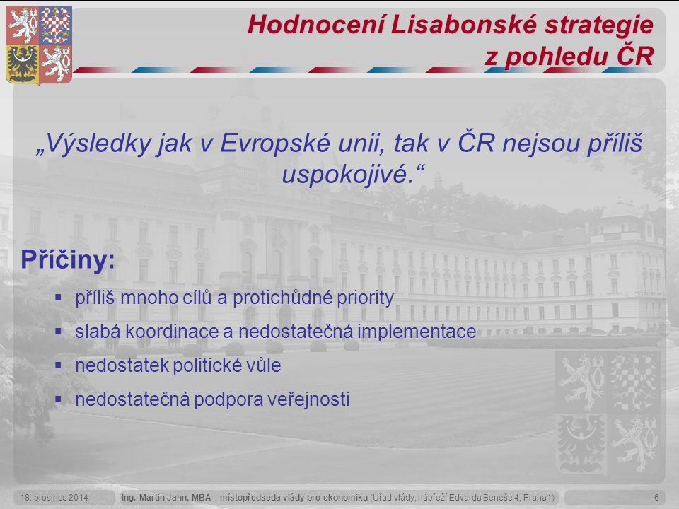Hodnocení Lisabonské strategie z pohledu ČR