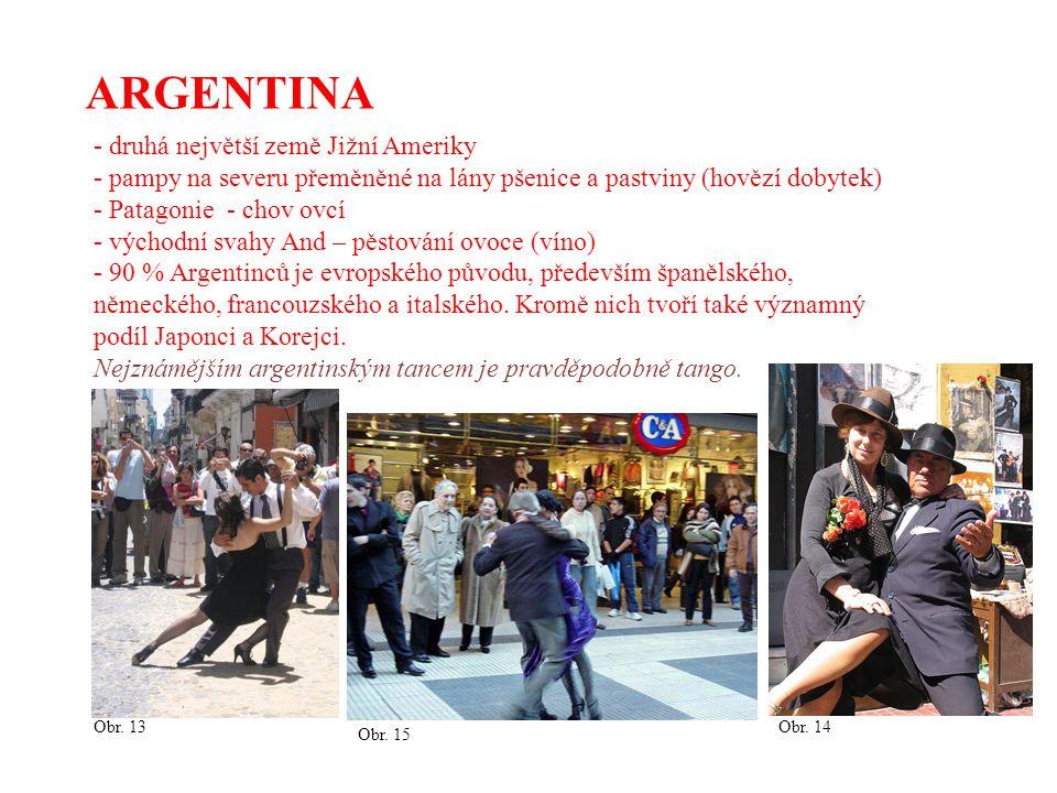 ARGENTINA druhá největší země Jižní Ameriky