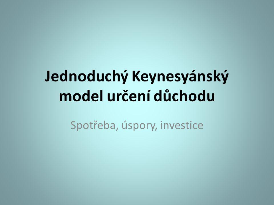 Jednoduchý Keynesyánský model určení důchodu
