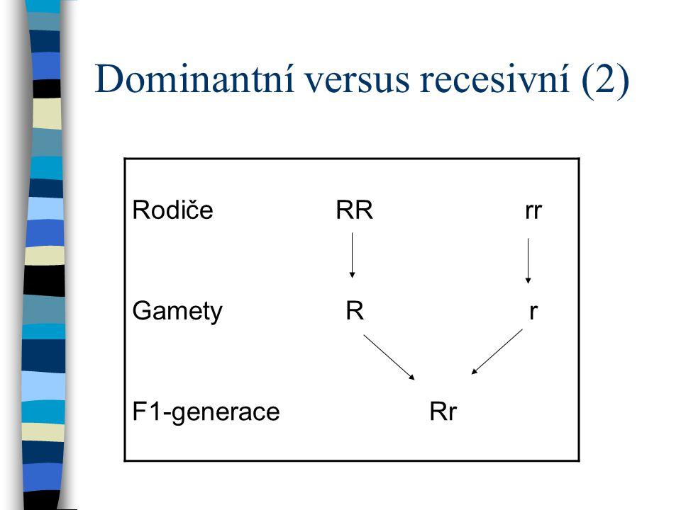 Dominantní versus recesivní (2)