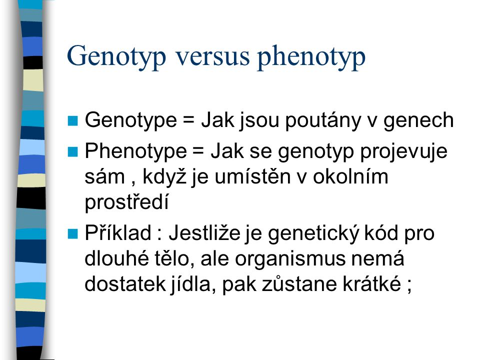 Genotyp versus phenotyp