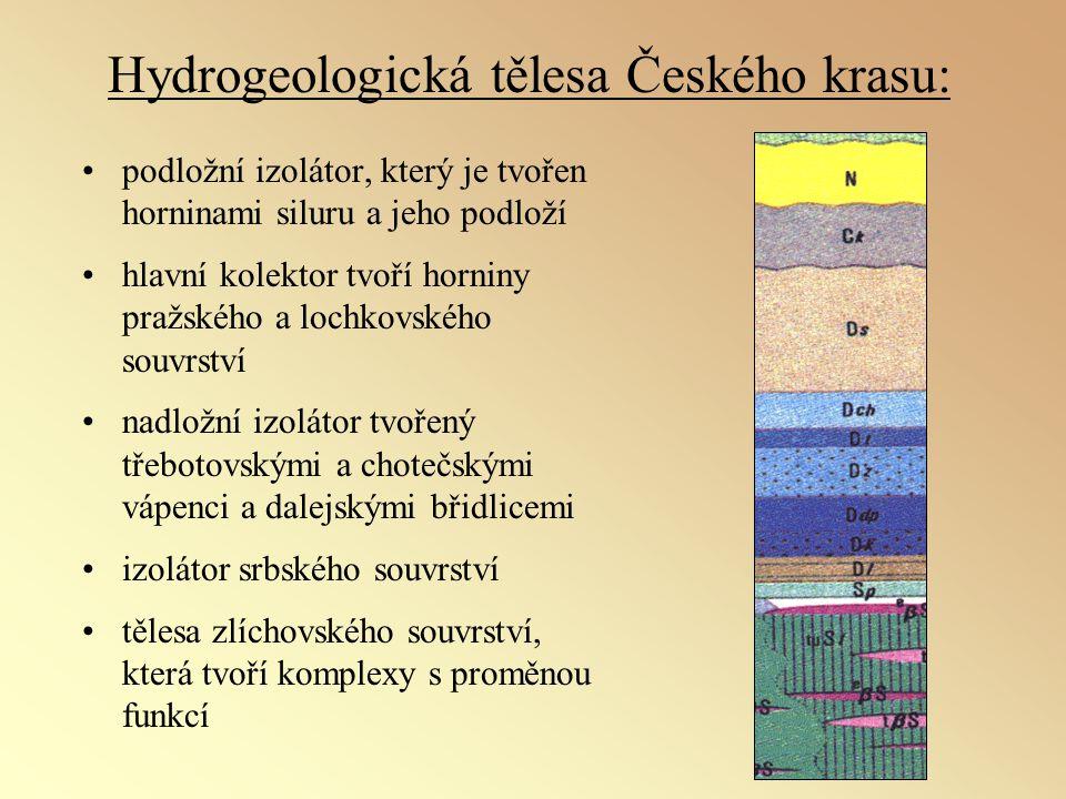 Hydrogeologická tělesa Českého krasu: