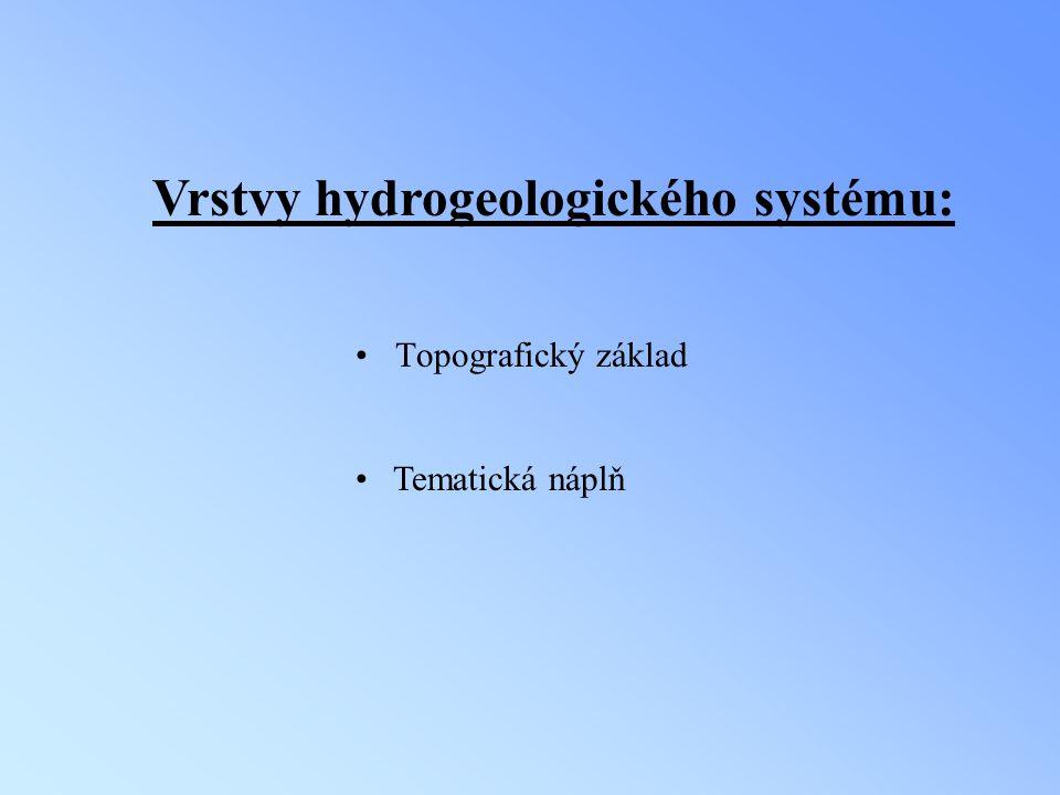 Vrstvy hydrogeologického systému: