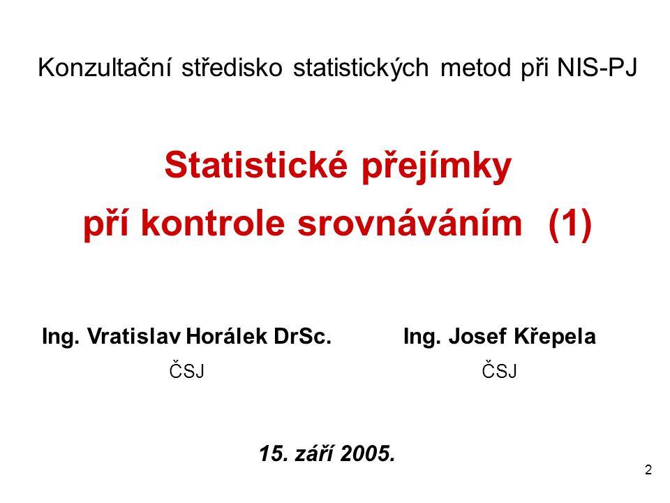 pří kontrole srovnáváním (1) Ing. Vratislav Horálek DrSc.