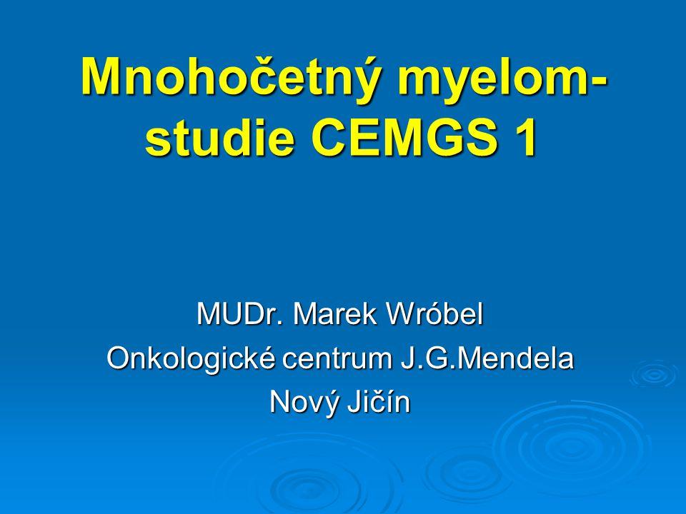 Mnohočetný myelom-studie CEMGS 1