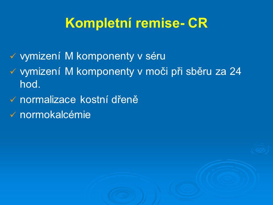 Kompletní remise- CR vymizení M komponenty v séru
