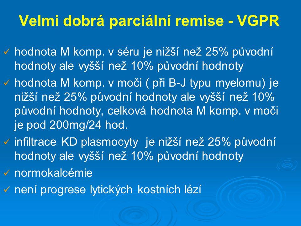 Velmi dobrá parciální remise - VGPR