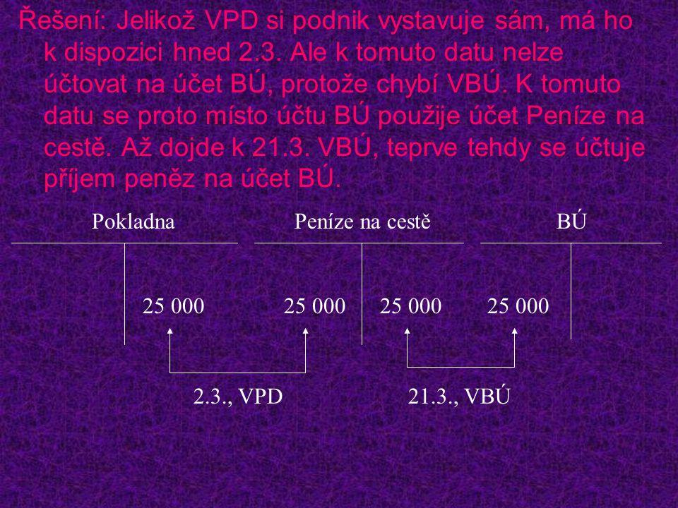 Řešení: Jelikož VPD si podnik vystavuje sám, má ho k dispozici hned 2