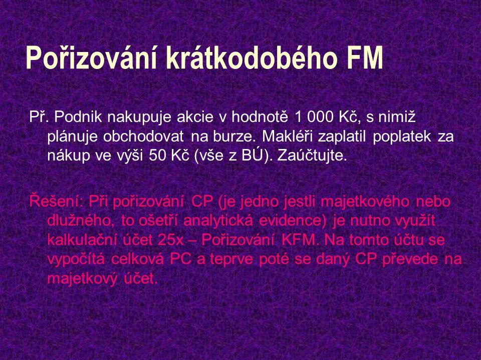 Pořizování krátkodobého FM