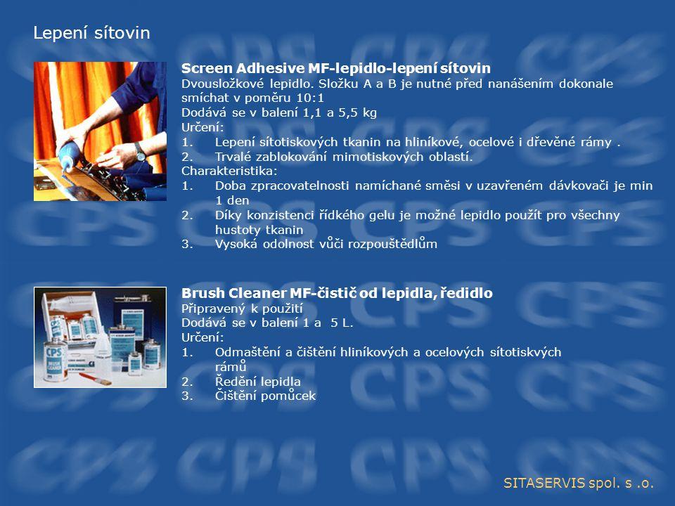 Lepení sítovin Screen Adhesive MF-lepidlo-lepení sítovin