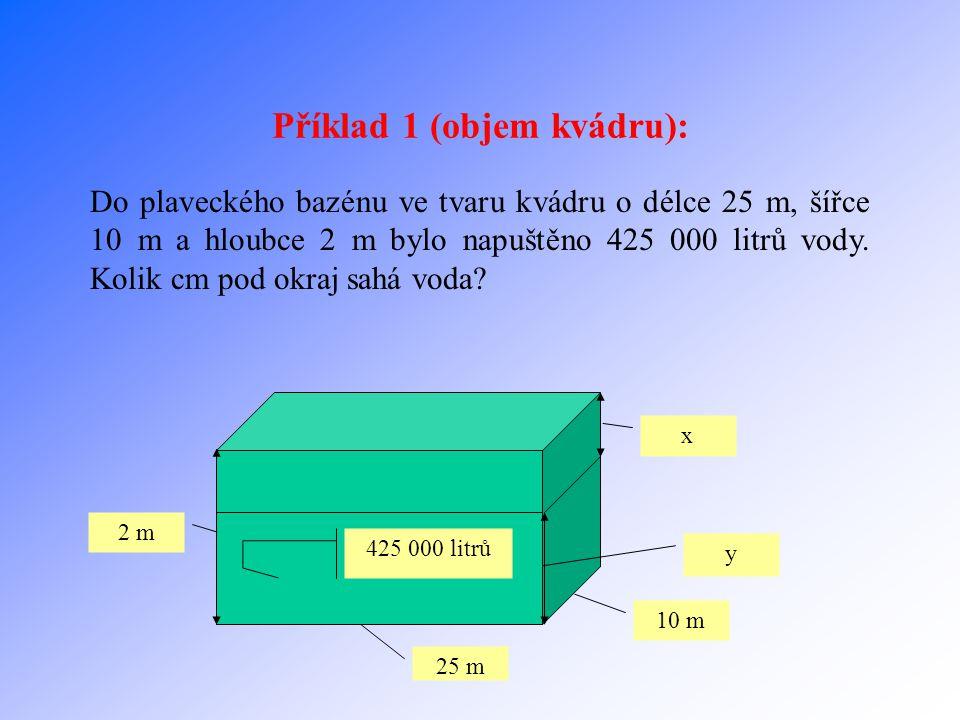 Příklad 1 (objem kvádru):