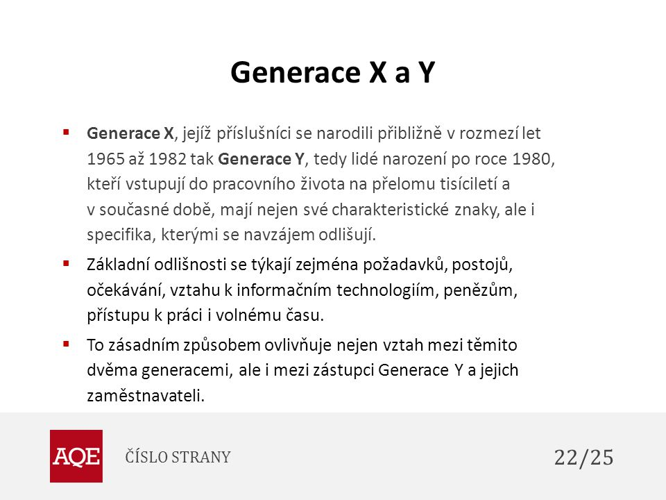 Generace X a Y