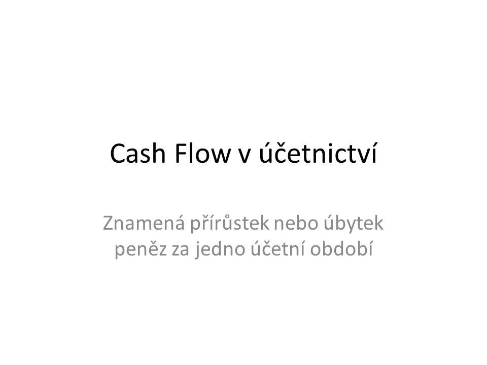Znamená přírůstek nebo úbytek peněz za jedno účetní období