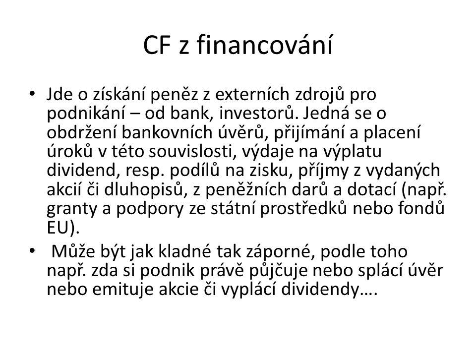 CF z financování