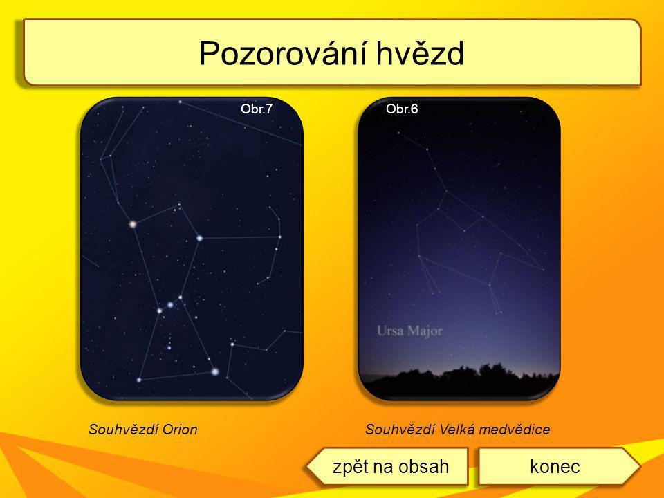 Pozorování hvězd zpět na obsah konec Souhvězdí Orion