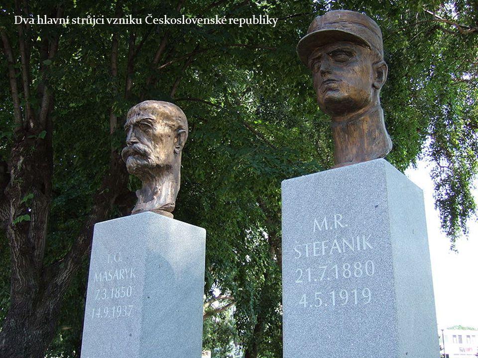 Dva hlavní strůjci vzniku Československé republiky
