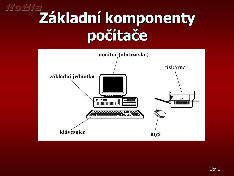 Základní komponenty počítače