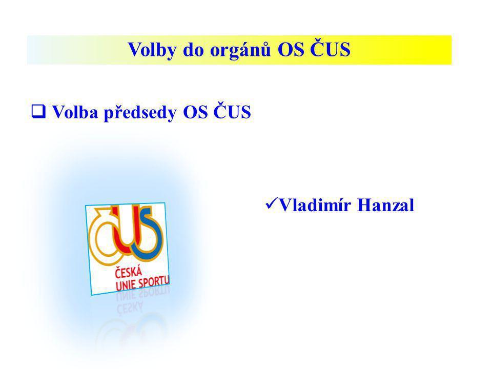 Volby do orgánů OS ČUS Volba předsedy OS ČUS Vladimír Hanzal