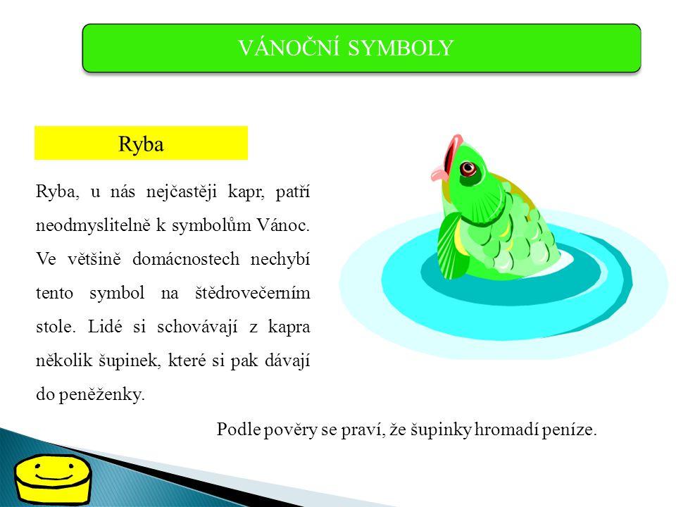 VÁNOČNÍ SYMBOLY Ryba.