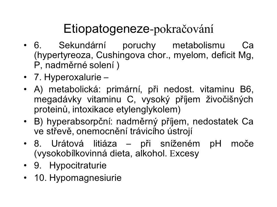 Etiopatogeneze-pokračování