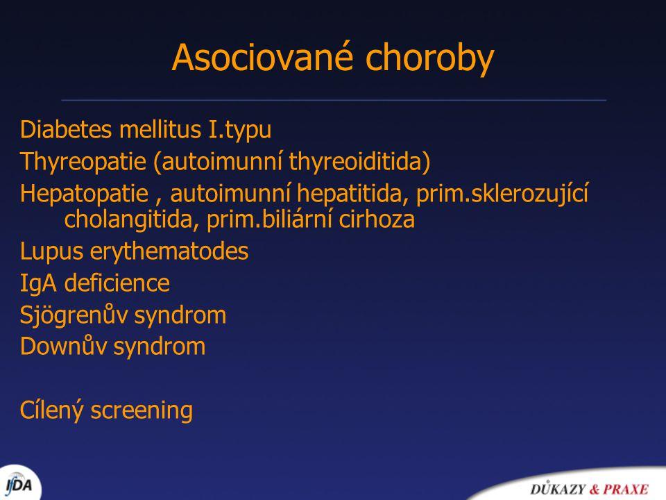 Asociované choroby Diabetes mellitus I.typu