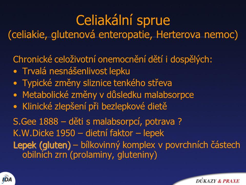 Celiakální sprue (celiakie, glutenová enteropatie, Herterova nemoc)