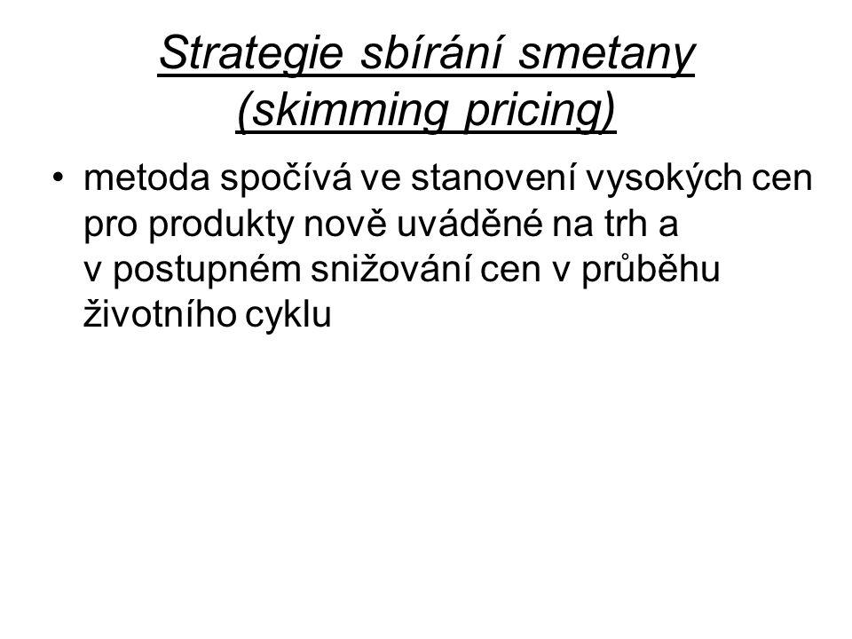 Strategie sbírání smetany (skimming pricing)
