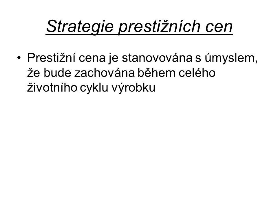 Strategie prestižních cen
