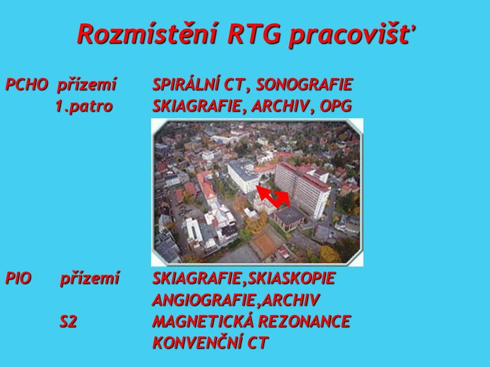 Rozmístění RTG pracovišť