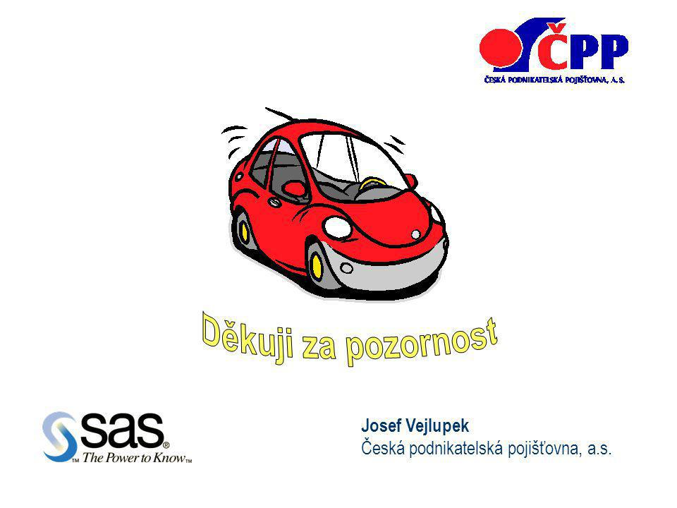 Děkuji za pozornost Josef Vejlupek Česká podnikatelská pojišťovna, a.s.