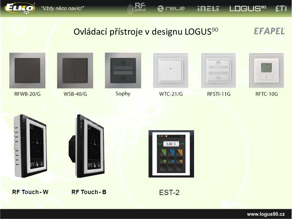 Ovládací přístroje v designu LOGUS90