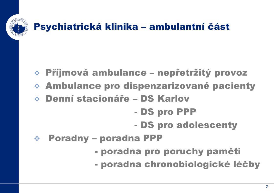 Psychiatrická klinika – ambulantní část