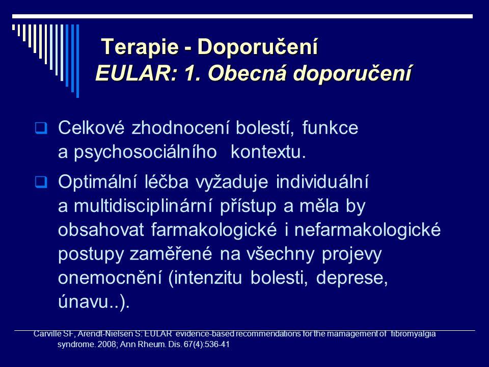 Terapie - Doporučení EULAR: 1. Obecná doporučení