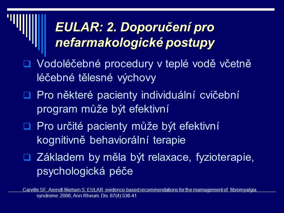 EULAR: 2. Doporučení pro nefarmakologické postupy