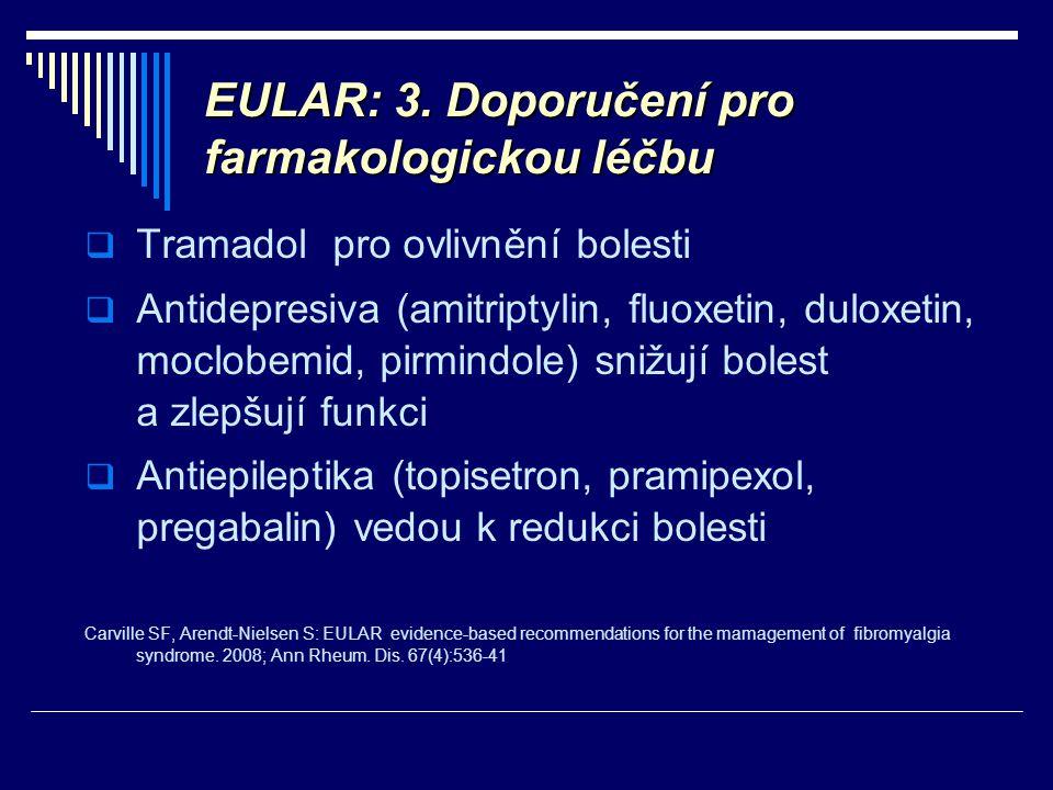 EULAR: 3. Doporučení pro farmakologickou léčbu