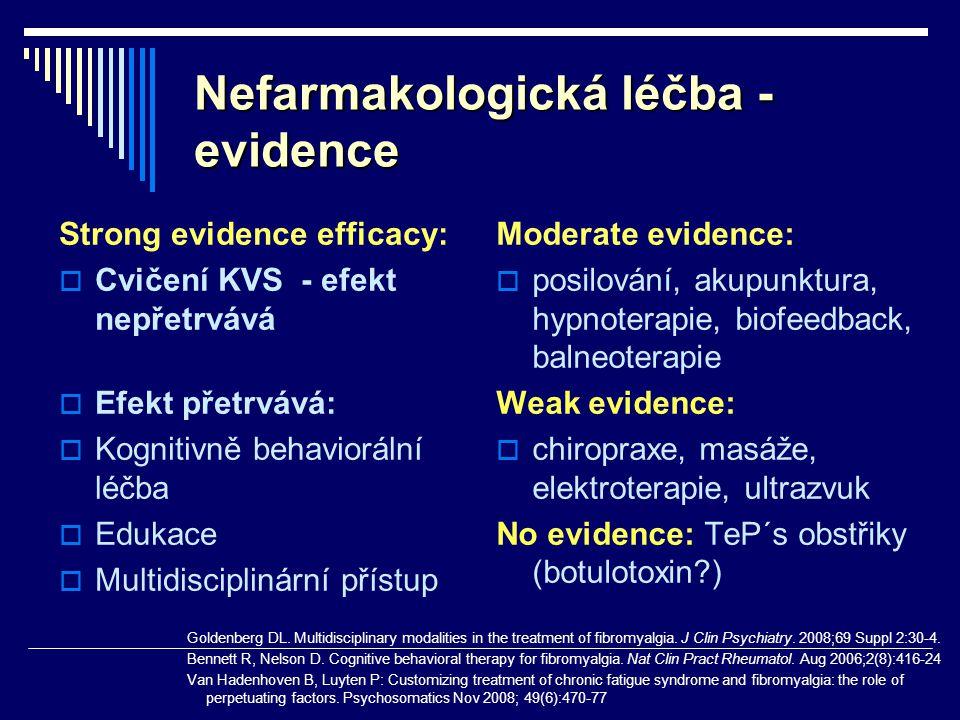 Nefarmakologická léčba - evidence