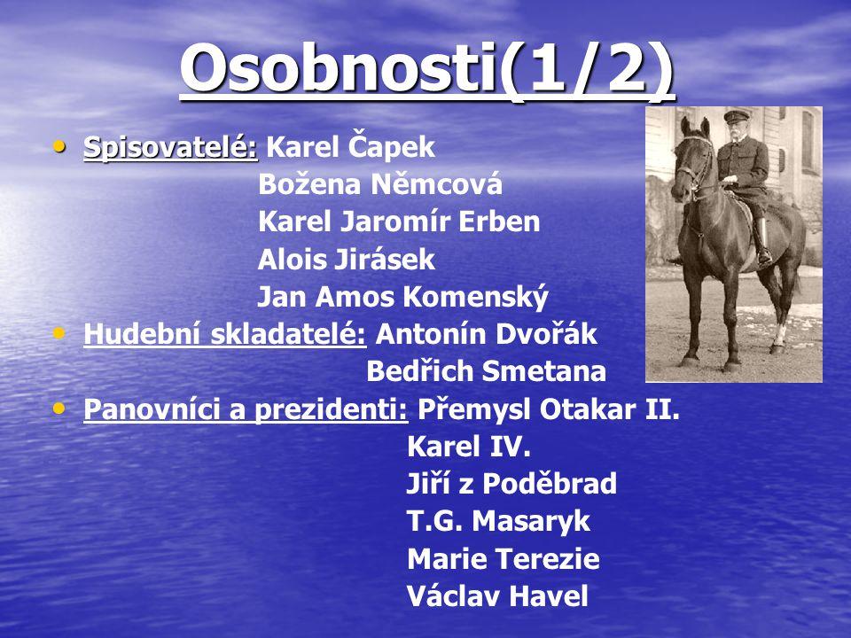 Osobnosti(1/2) Spisovatelé: Karel Čapek Božena Němcová