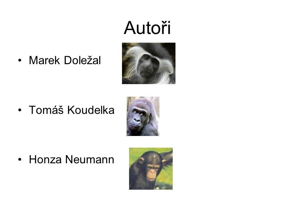 Autoři Marek Doležal Tomáš Koudelka Honza Neumann