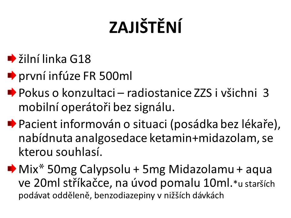 ZAJIŠTĚNÍ žilní linka G18 první infúze FR 500ml
