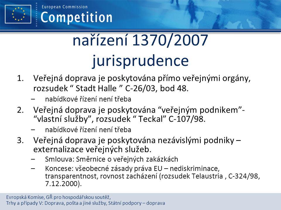 nařízení 1370/2007 jurisprudence