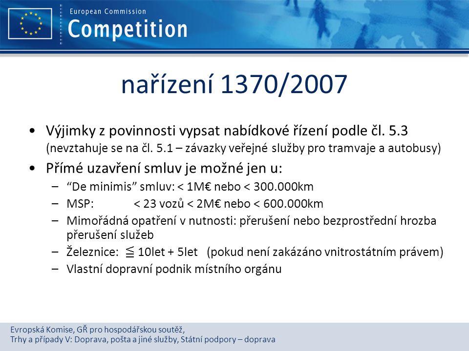 nařízení 1370/2007