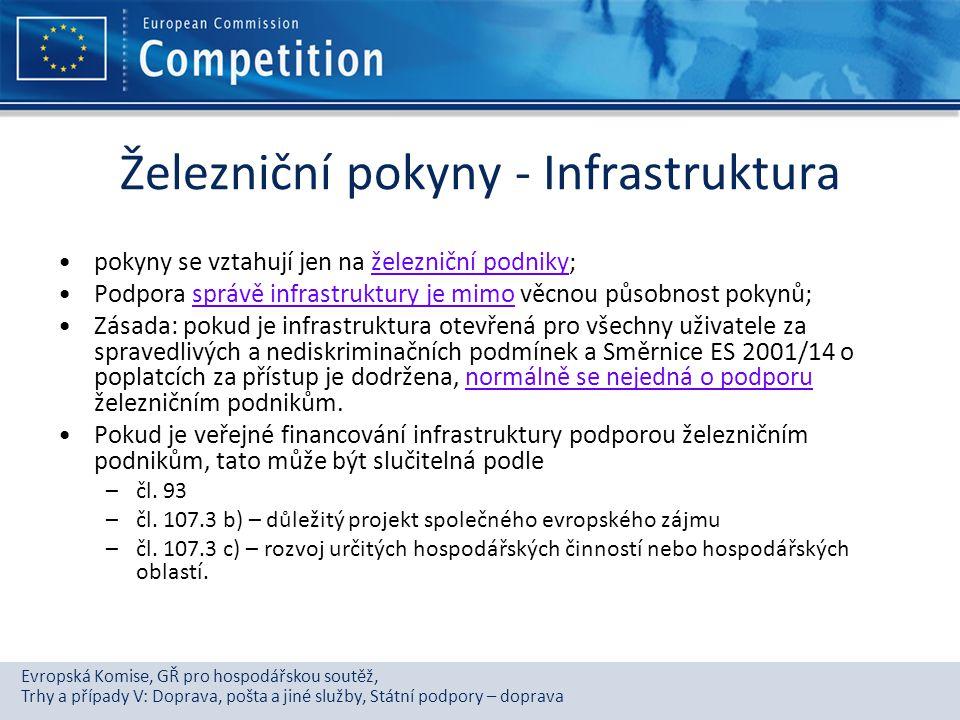 Železniční pokyny - Infrastruktura