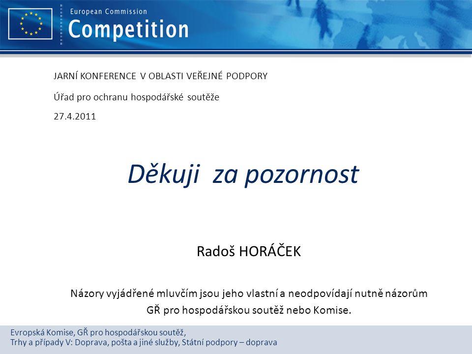 GŘ pro hospodářskou soutěž nebo Komise.