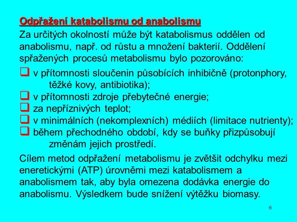 Odpřažení katabolismu od anabolismu