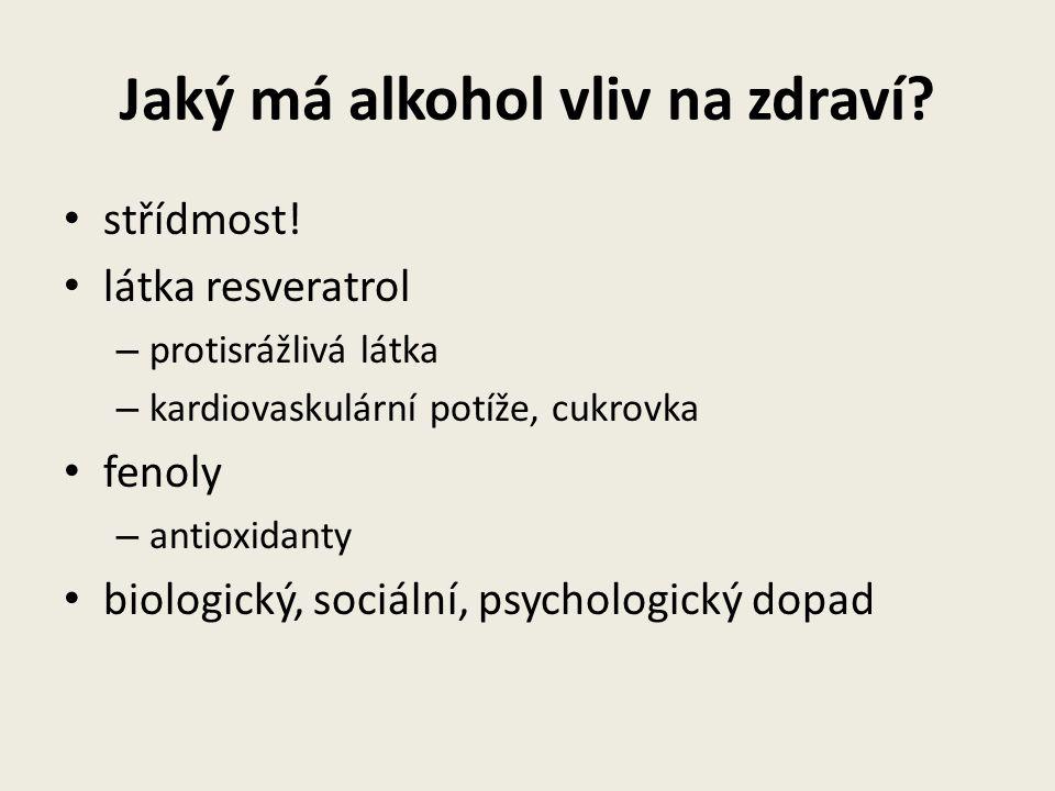 Jaký má alkohol vliv na zdraví