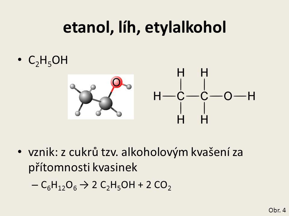 etanol, líh, etylalkohol